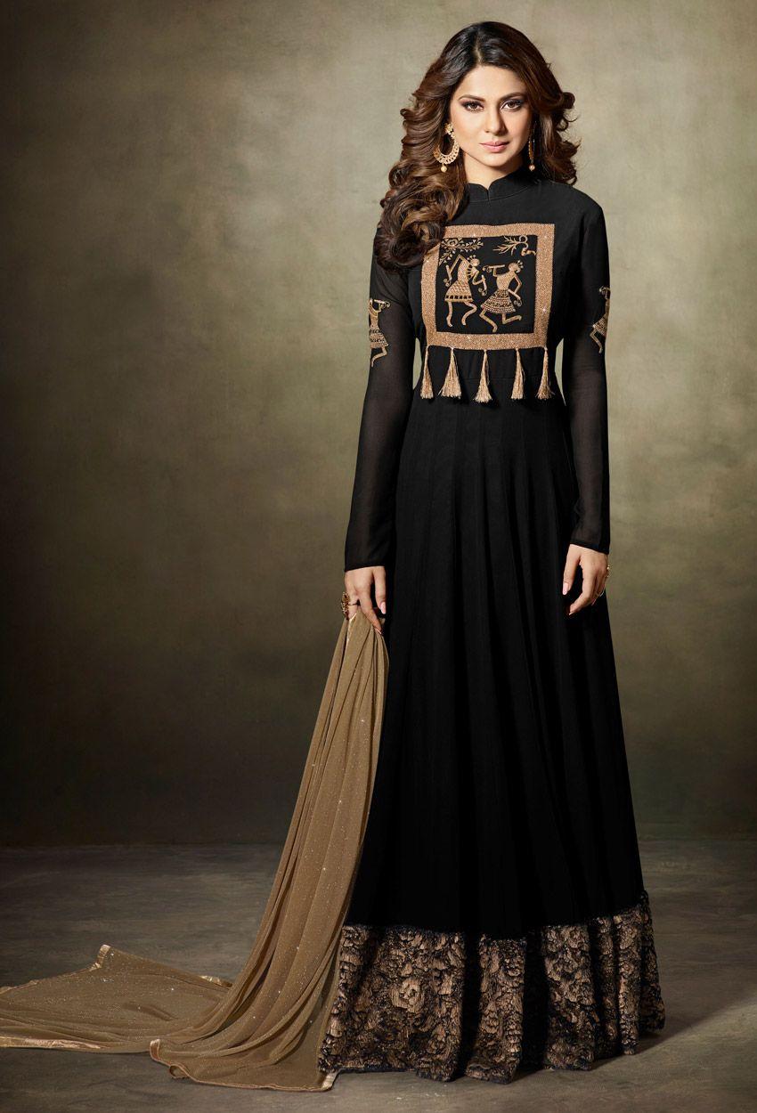 Jennifer Winget In Black Georgette Sharara Suit in 2019 ...