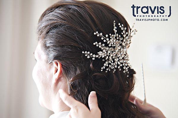 Wedding hair with brooch, Travis J Photography, Colorado