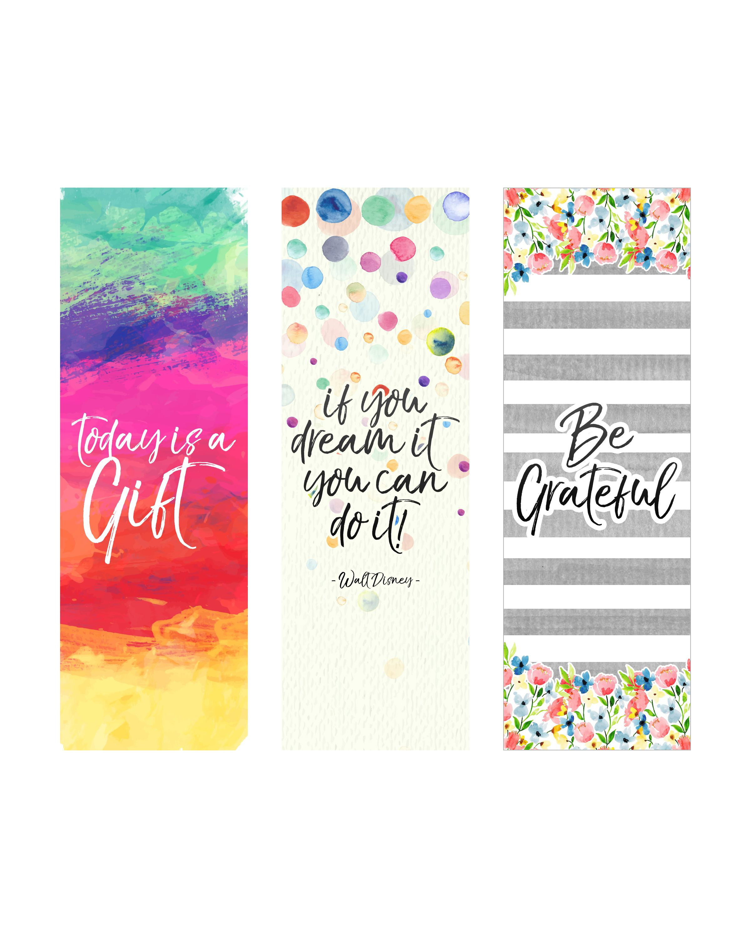 Free Printable Inspirational Quote Bookmarks Creative Bookmarks