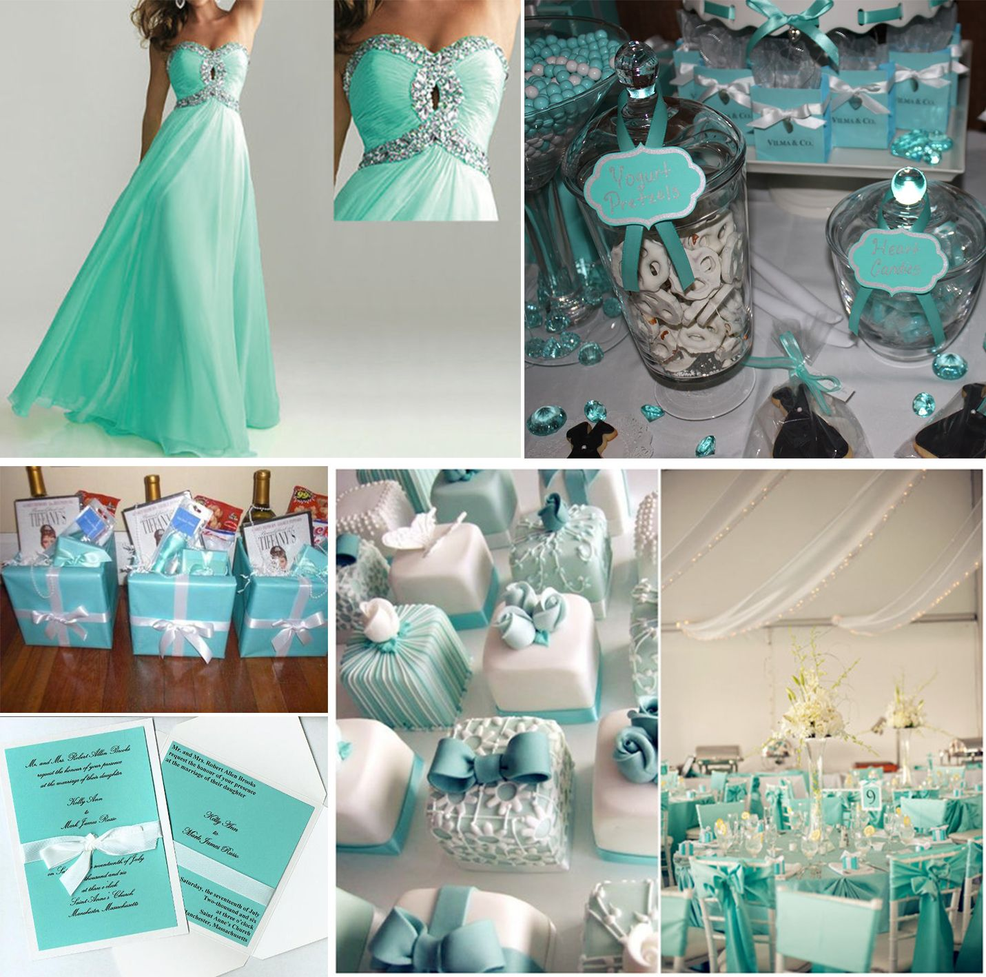 The Tiffany Blue Theme Wedding Ideas: Tiffany Blue And Mint Green Wedding