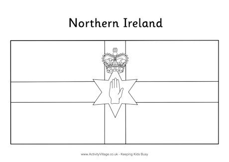 Northern Ireland Flag Colouring Page