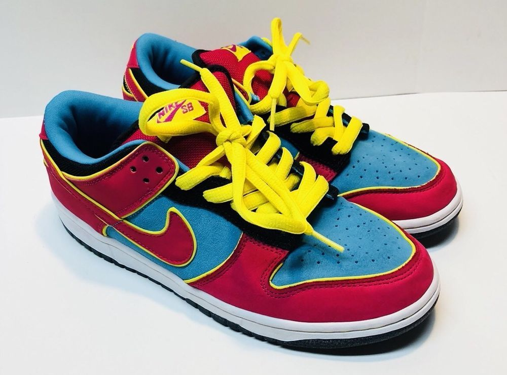 the best attitude 39bc1 71d19 Ms Pacman Nike SB Dunk Low Size 8.5 Rare Hard To Find Pink Blue Yellow    eBay