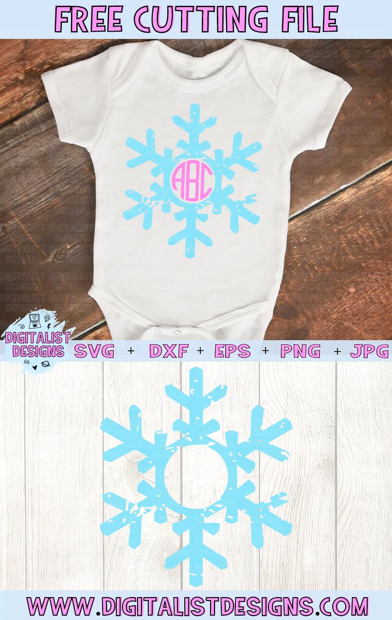 Free Snowflake Monogram SVG Monogram svg, Snowflake