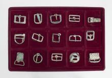 Sammlung von 15 großen, historischen Schnallen/ Collection Of 15 Historical Buckles