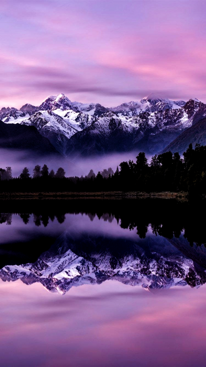 Lake Matheson Morning Sunrise Mountain Lake Forest Mountain Landscape Southern Alps New Zealand Landscape In 2020 Landscape Mountain Landscape Mountain Lake