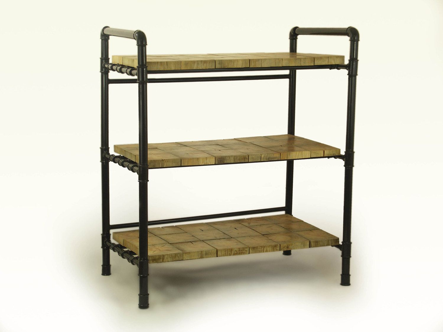 Loft Style Furniture Gas Pipes Industrial Bookshelf Wooden