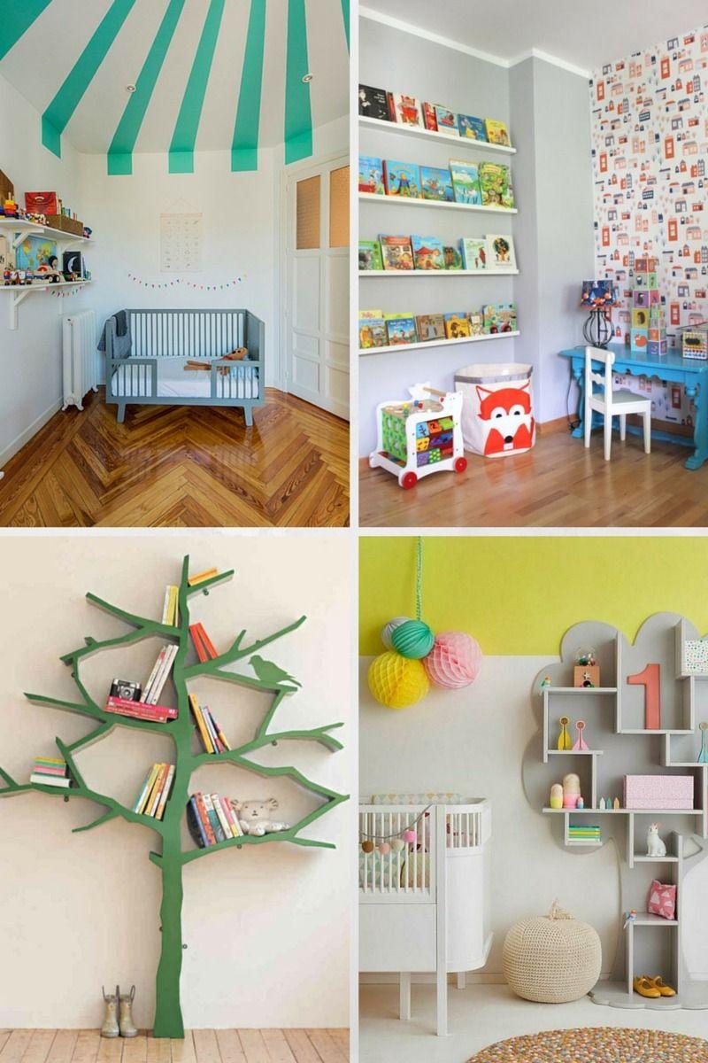 Diy Kinderzimmer bild 1 mit farbe und besonderen regalen akzente setzen kinderbett
