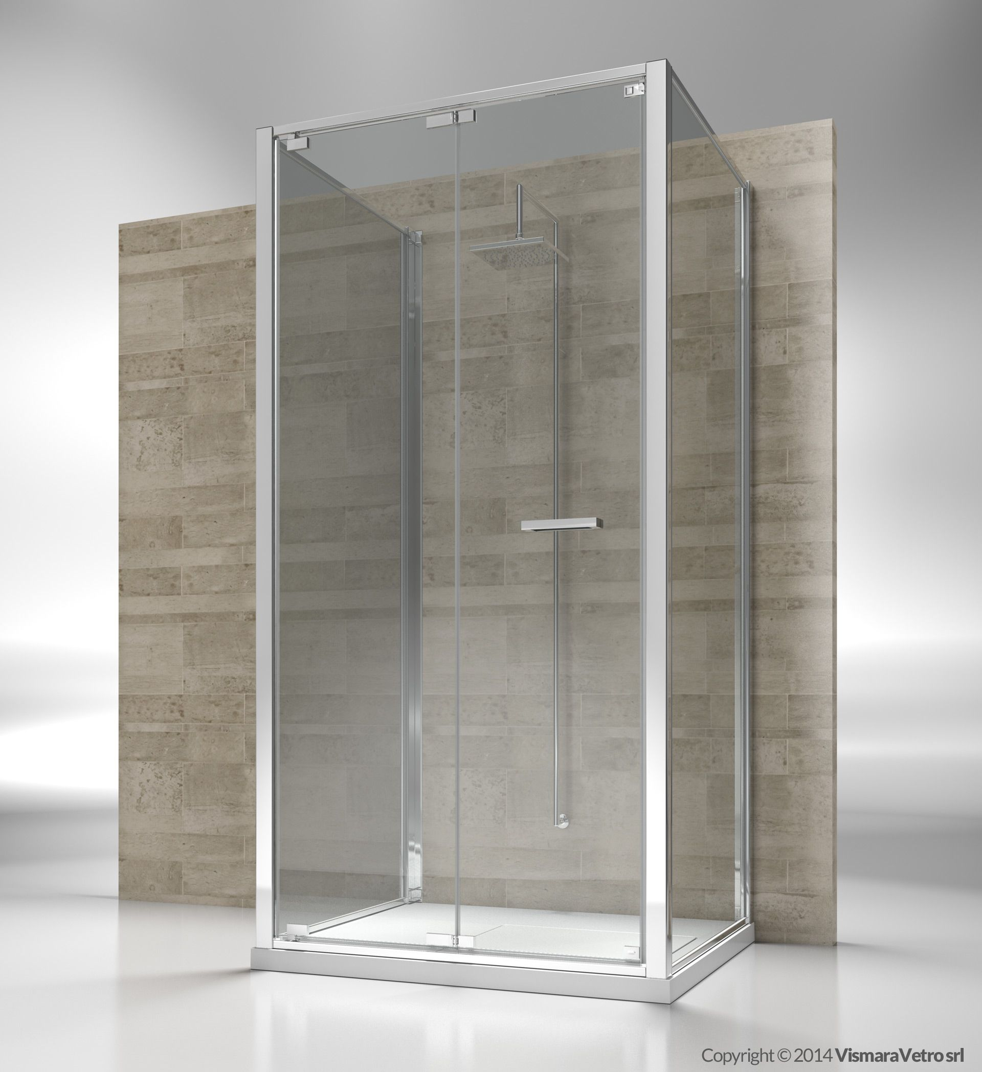 Framed 3 Sided Shower Enclosure With Pivoting Door Reversible And Extensible Of 3 Cm For Each Shower Enclosure Walk In Shower Enclosures Bathroom Inspiration