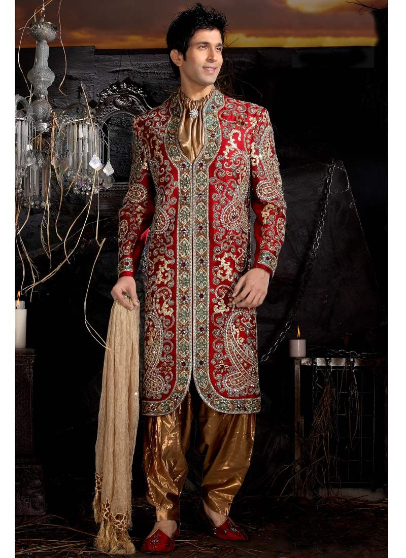 sherwani #mensfashion #embroidery | Men\'s (Indian) Fashion ...
