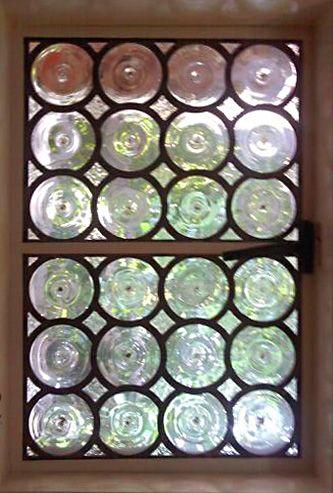 Custom Leaded Glass Rondelle Windows Leaded Glass Bullseye Glass Custom Stained Glass