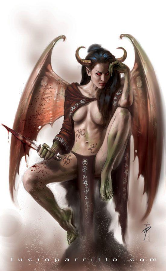 Succubus Lucio Parrillo Fantasy Artwork Fantasy Female Demons