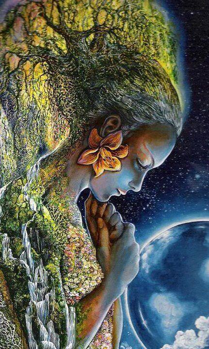 Woman & earth art | Josephine wall, Earth art, Goddess art