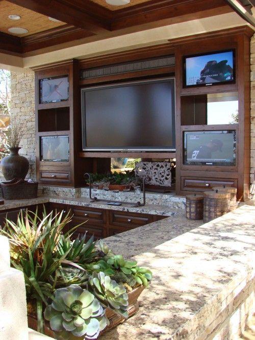 Backyard Sports Bar Home Outdoor Kitchen Design Outdoor Living
