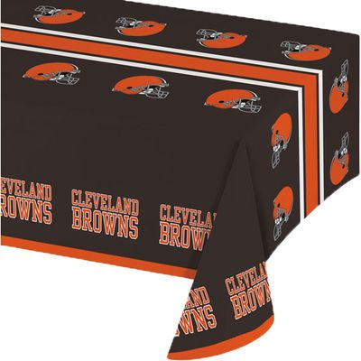 Cleveland Browns Plastic Table Cover