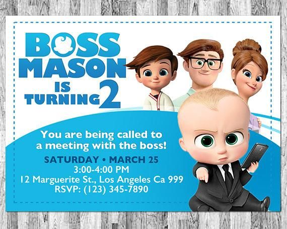 Boss Baby Invitation Movie Birthday