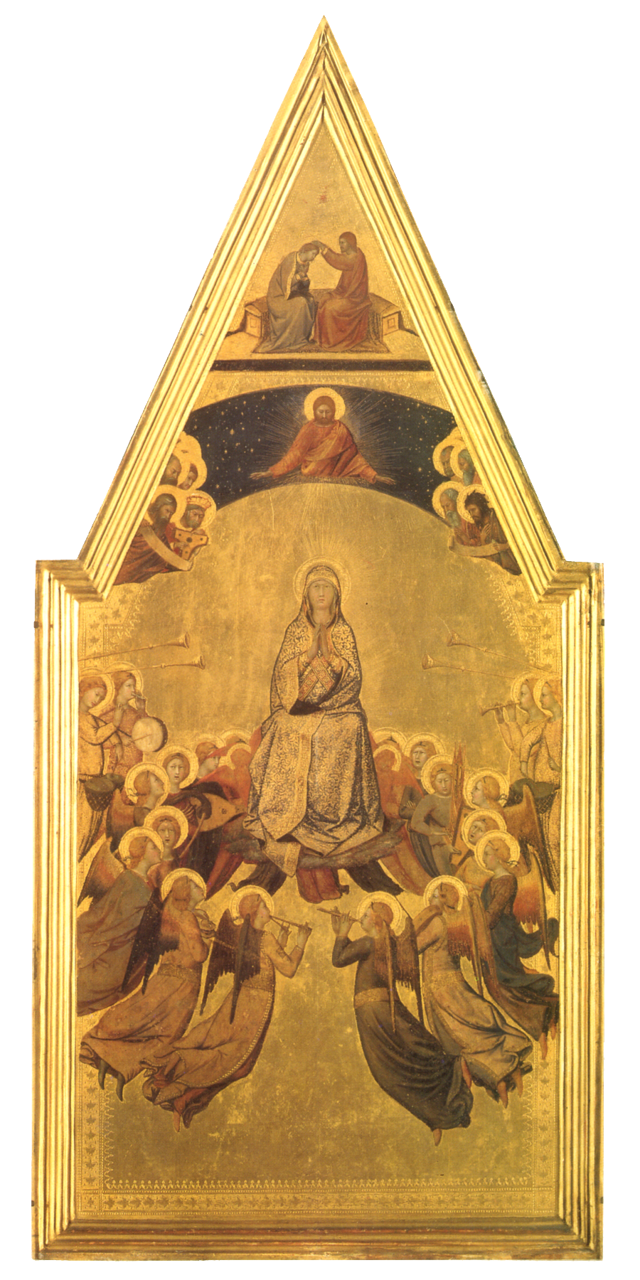 Lippo Memmi - Assunzione della Vergine (ca. 1340) - Monaco di Baviera - Bayerische Staatsgemaldesammlungen - Alte Pinakothek - #Siena #MonacoDiBaviera #LippoMemmi