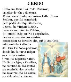 Oração do Credo No Céu