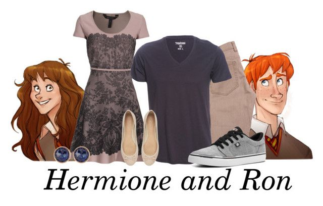 """""""Hermione and Ron"""" by bluetidegirl ❤ liked on Polyvore featuring DC Shoes, BCBGMAXAZRIA, Susan Caplan Vintage and Witchery"""