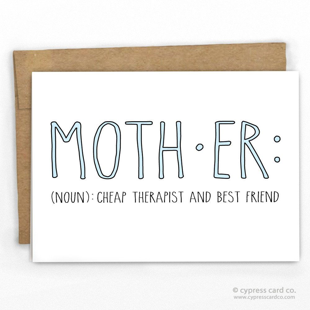 mothers day card where else could you get such a good therapist at that price blank inside a2 size 425 x 55 100 recycled heavy card stock