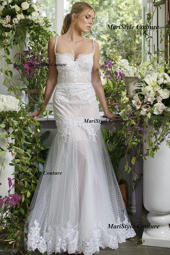 Sexy Boho Brautkleid aus Tüll und Spitze Open von MariStyleCouture ...