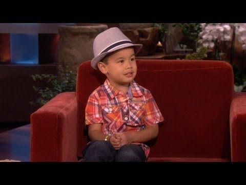 Bruno Mars Ellen Show Kid