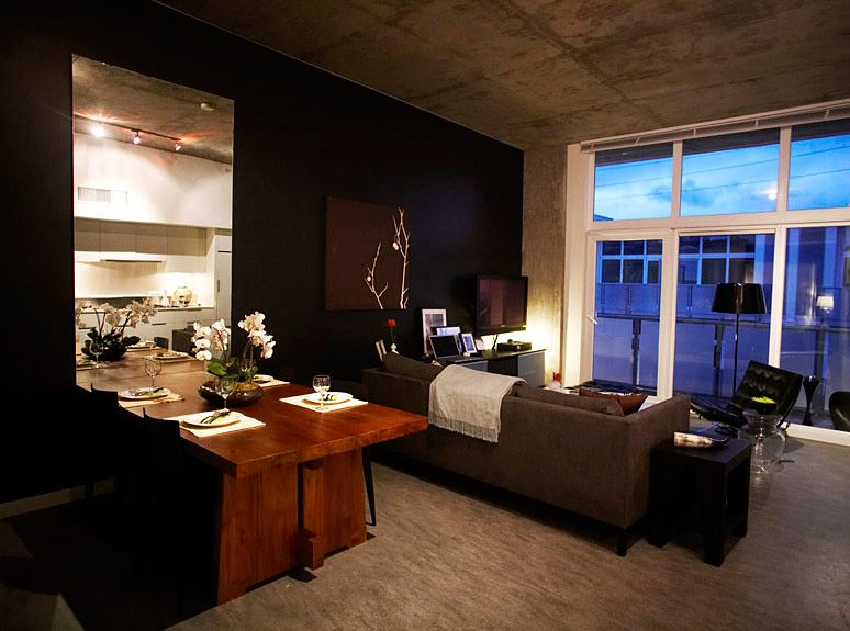 ber cool bachelor pad. Adore the Black wall