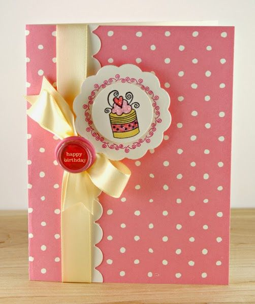 Whimsy cakes birthday card by Carly Robertson. #handmade #crafts #cardmaking