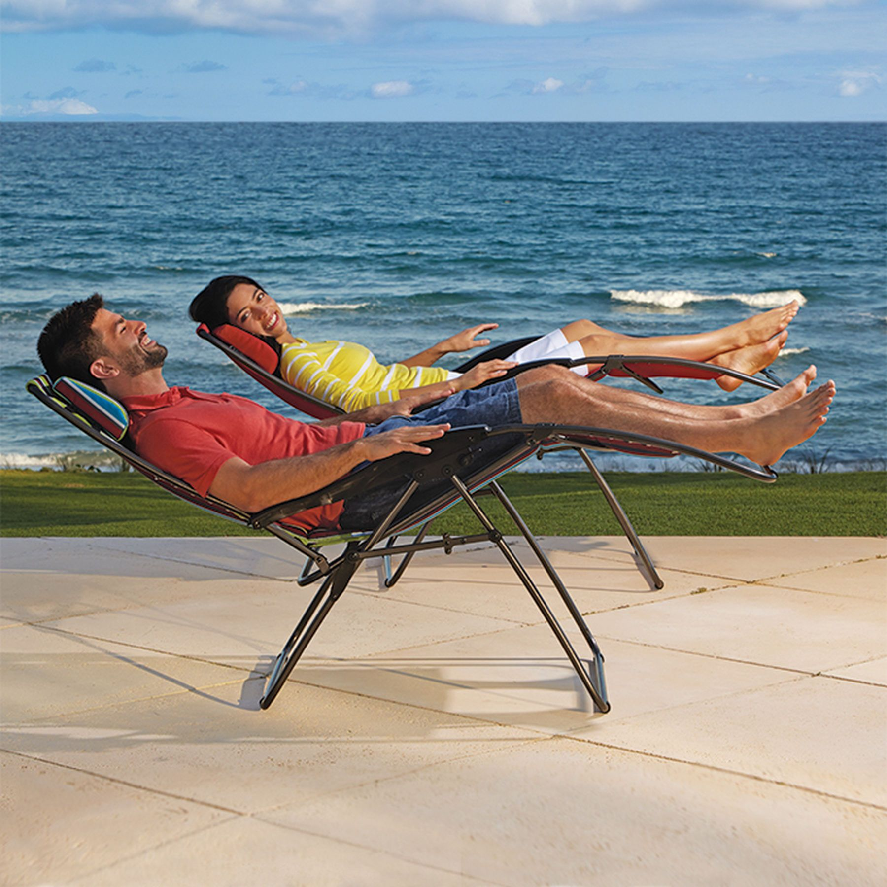 Extra wide zerogravity lounger outdoor living spaces pinterest