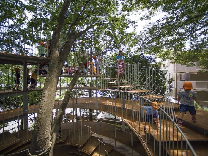 Kinder Garden: TEZUKA ARCHITECTS, Alessio Guarino · Ring Around The Tree