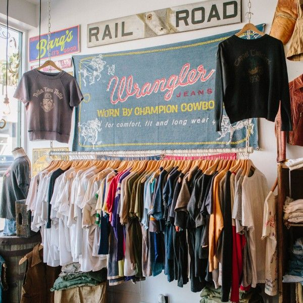 Chuck S If Vintage Americana Is Your Thing You Ll Be Impressed By The Stacks Of Denim And Racks Vintage Store Vintage Clothing Stores Vintage Thrift Stores