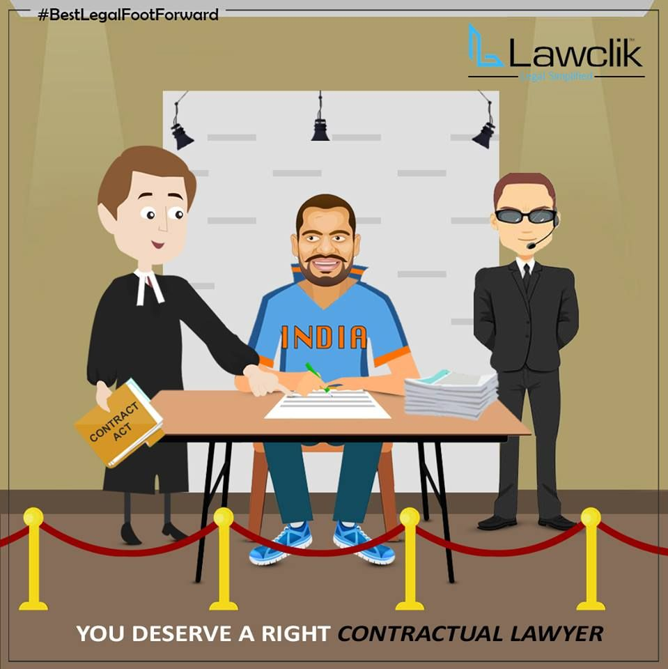 You deserve a right Contractual Lawyer, Lawclik covers all