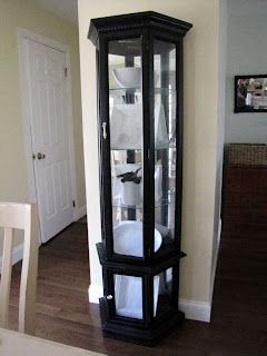i have this curio cabinet and am definitely painting it black after rh pinterest com