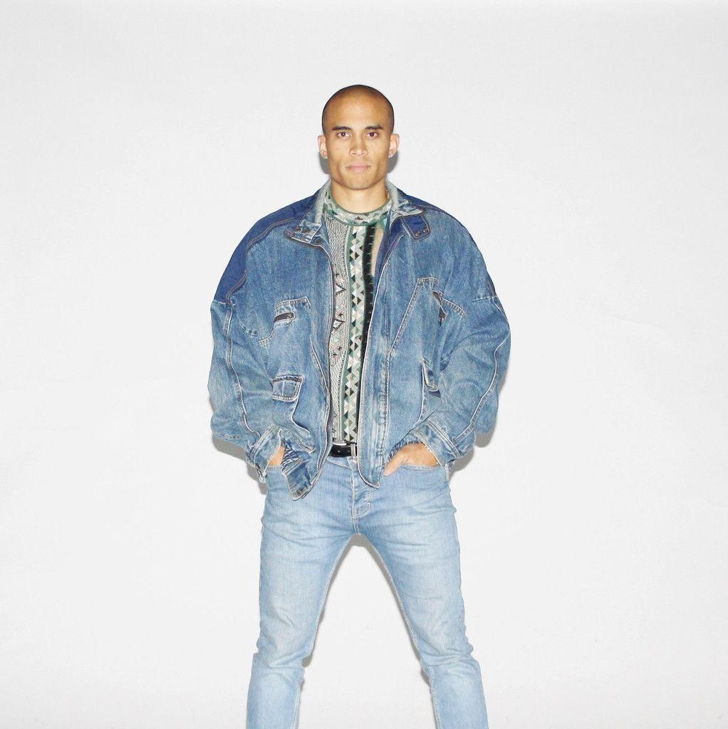 Rare Men S 90s Adidas Hip Hop Street Style Denim Jacket Denim Jacket Fashion Denim Fashion Hip Hop Street Style [ 1024 x 1022 Pixel ]
