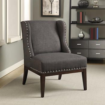 Kitts Fabric Wingback Accent Chair Office Ideas Dining