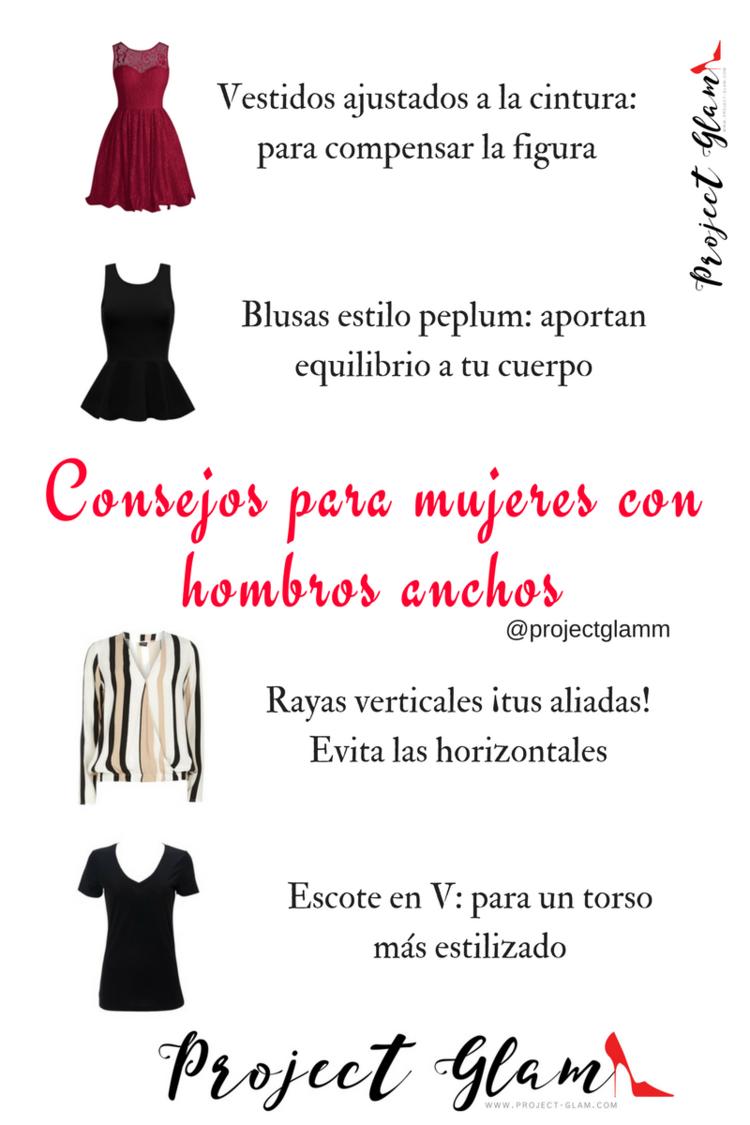 check out 95171 cfefd Consejos al vestir si tienes hombros anchos — Project Glam Más