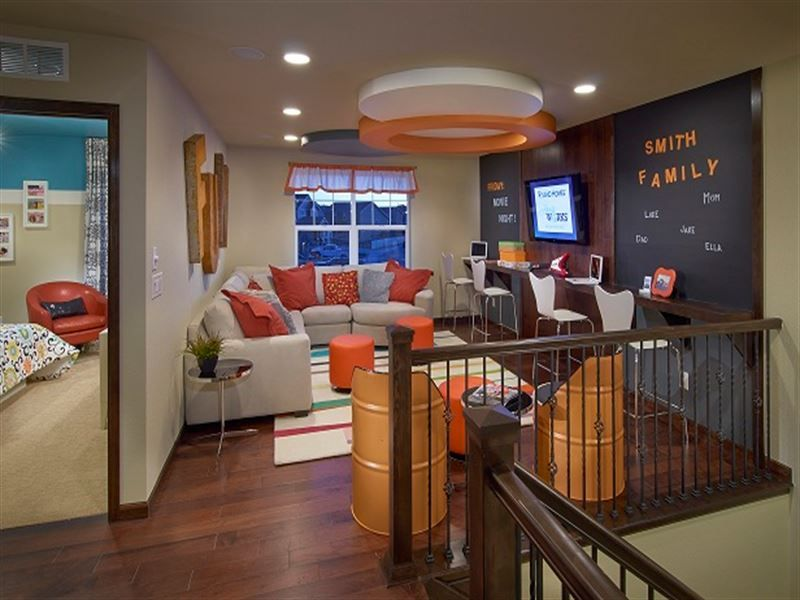 Tv game room loft home decor ideas loft playroom - Family game room ideas ...