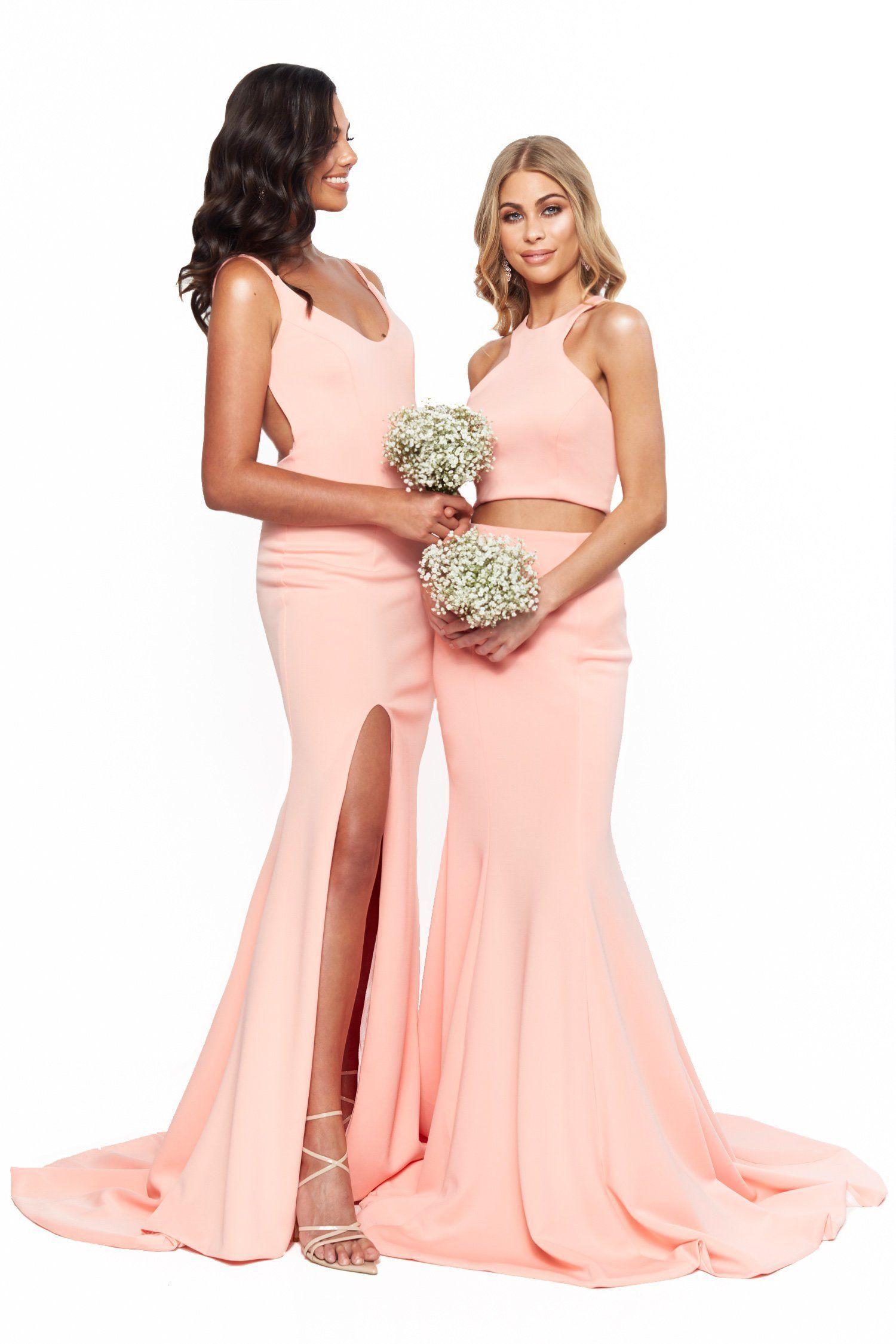 A&N Bridesmaids Delilah Two Piece Peach Peach