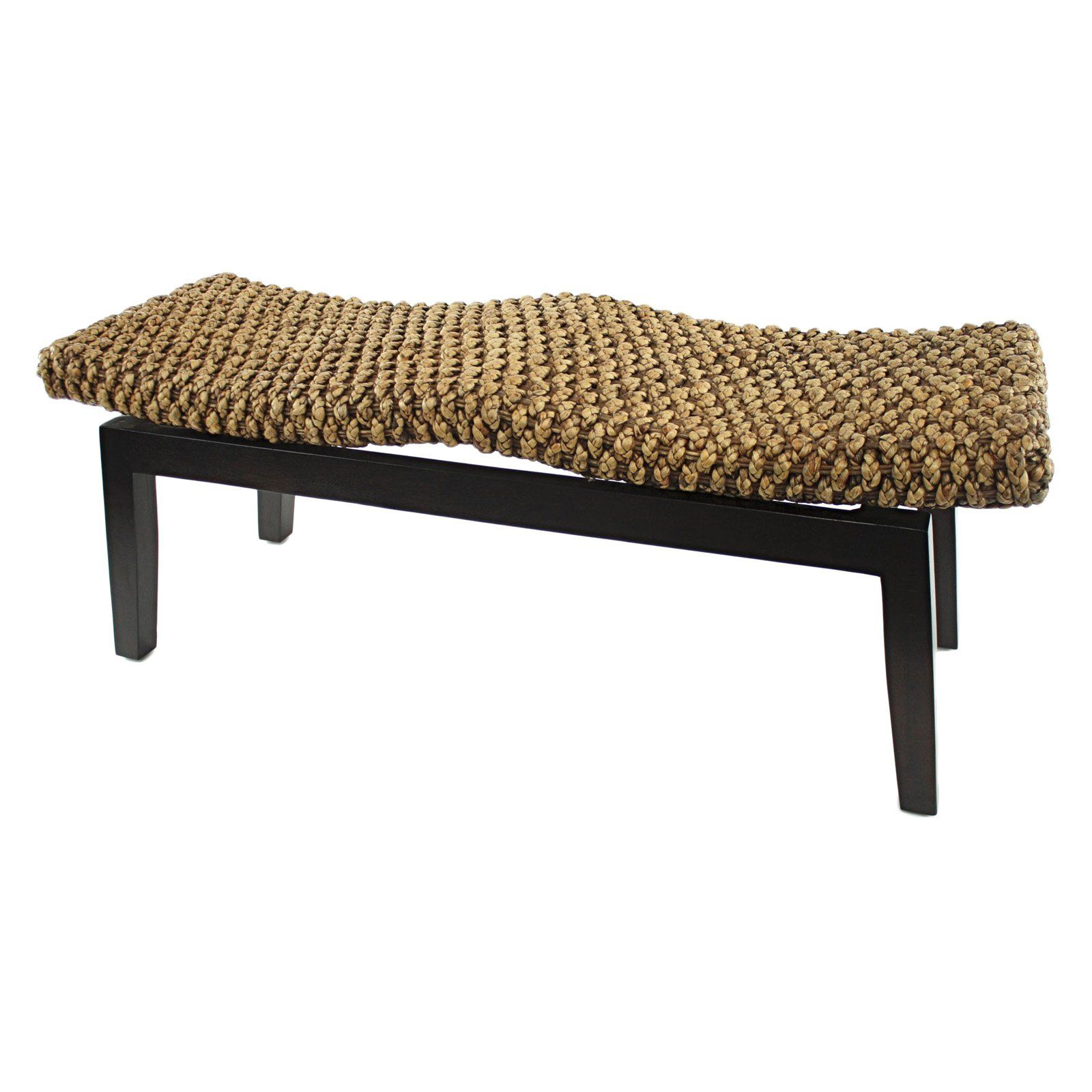 Aspire Home Accents Parker Indoor Rattan Bench 228 7 Hayneedle