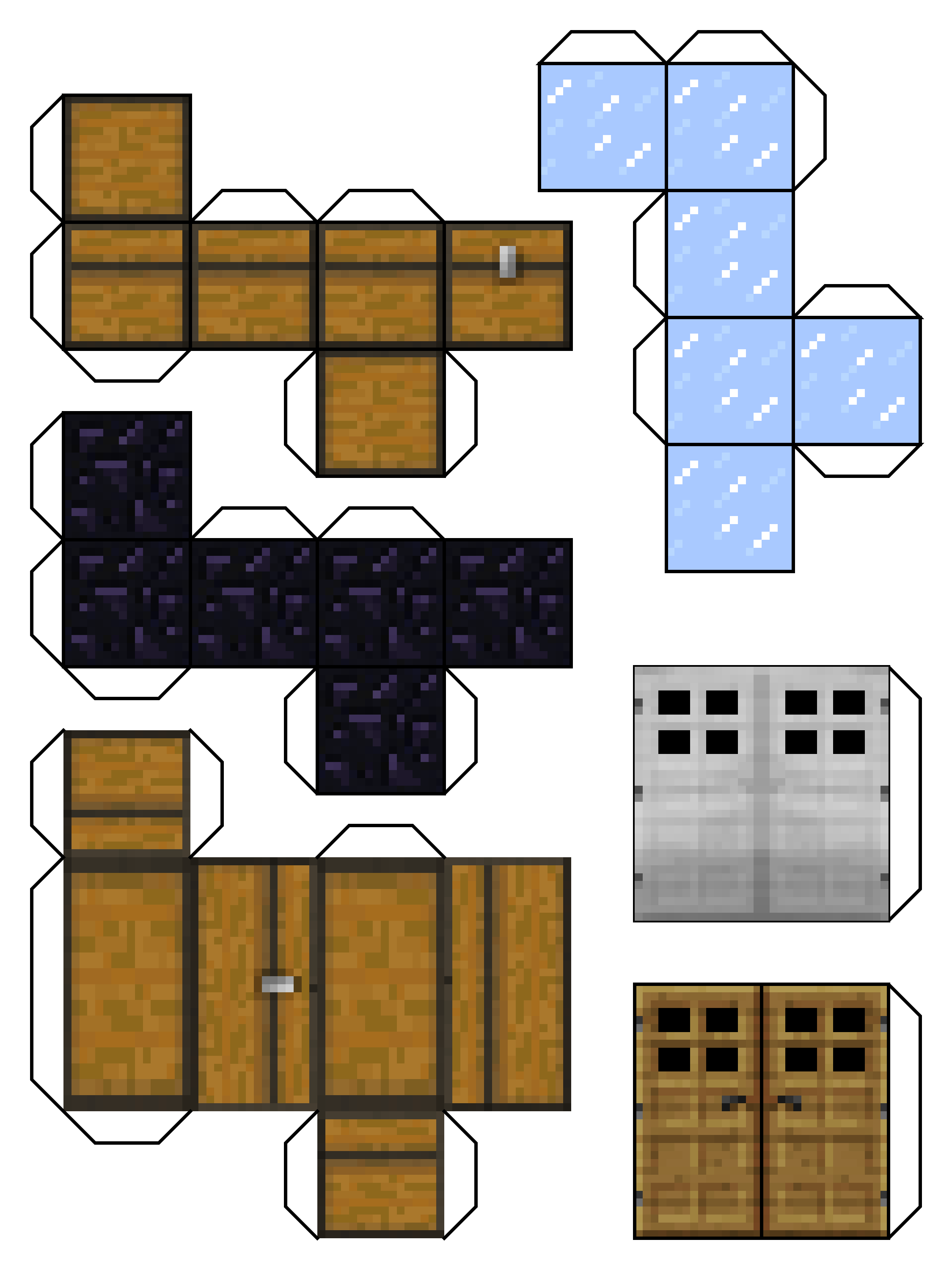 image relating to Printable Minecraft Blocks titled Pin upon Boyo Crafts Tasks