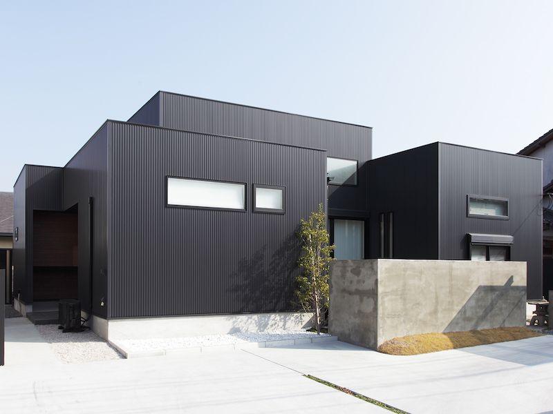 施工例詳細ページ アイジー工業株式会社 かっこいい家 平屋外観
