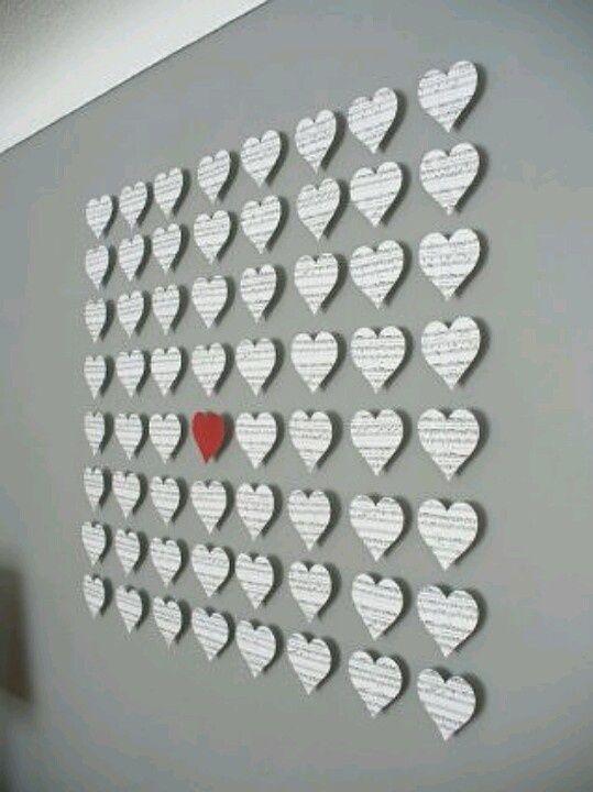 Valentineu0027s Day Wall Art   The Greatest 30 DIY Decoration Ideas For  Unforgettable Valentineu0027s Day