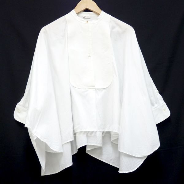 9ba786a670bd 一風騎士公式オンラインショップ / 142489中古セリーヌホーボー ... セリーヌ【中古】CELINEノーカラーデザインシャツ ホワイト .