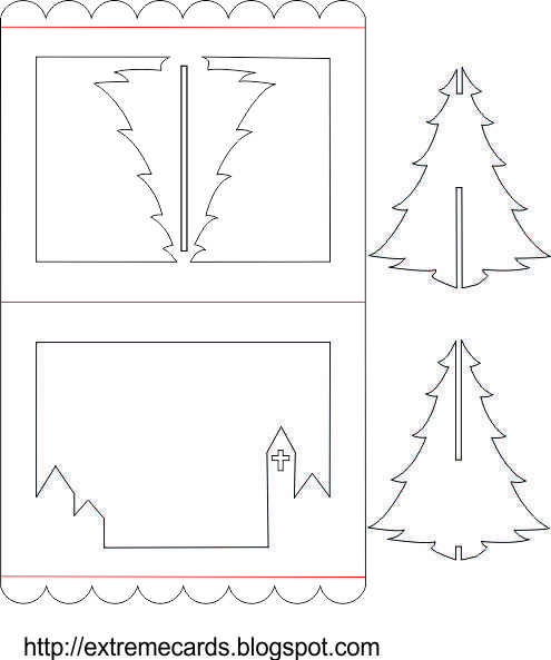 3d christmas tree pop up Christmas Cards Pinterest Christmas - free christmas tree templates