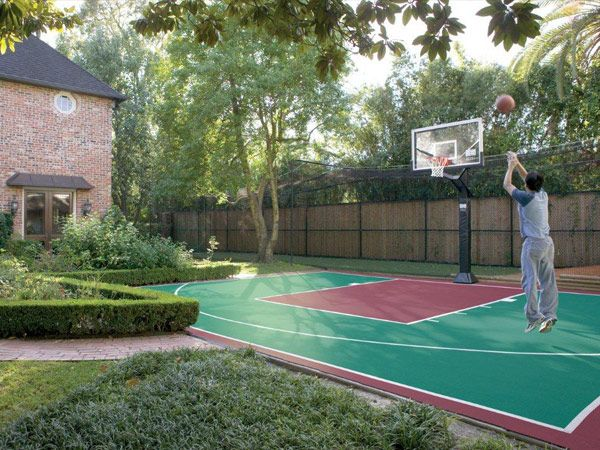 find this pin and more on home backyard basketball court construction - Home Basketball Court Design