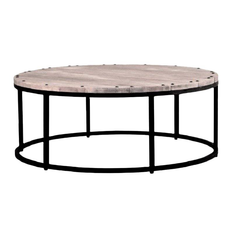Round Wood And Iron Coffee Table Rustic Boho Modern Farm Style Iron Coffee Table Round Wood Coffee Table Round Coffee Table