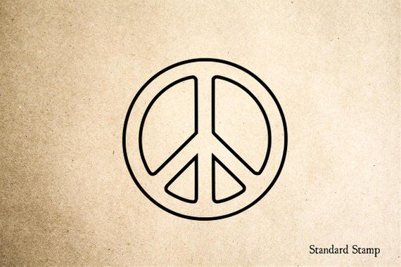 Peace Symbol Rubber Stamp - 2 x 2 inches in 2019 | Products