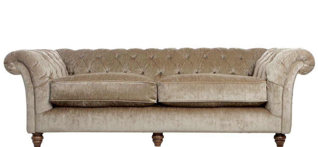 Belvedere 3 Seater Sofa In Mushroom H70x220x100 Sl155