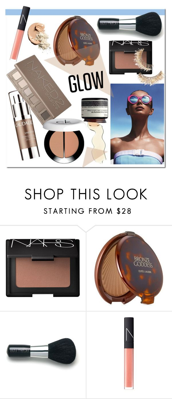 """#springglow"" by hellodollface ❤ liked on Polyvore featuring beauty, NARS Cosmetics, Estée Lauder, Laura Mercier, Le Specs and springglow"