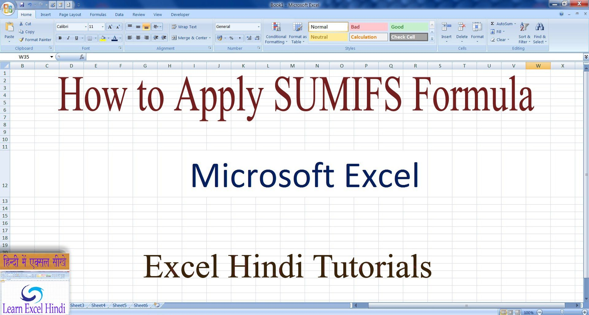 Pin by Ajay Sharma on Learn Excel in Hindi Learning