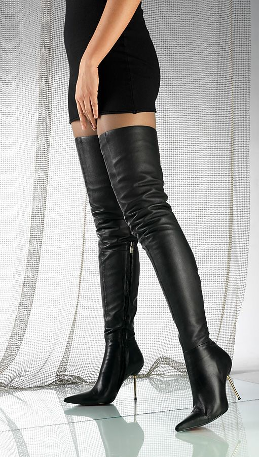 stiletto thigh high leather boots | Gommap Blog